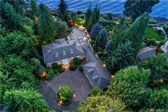 Mansions in home Perched above Puget Sound