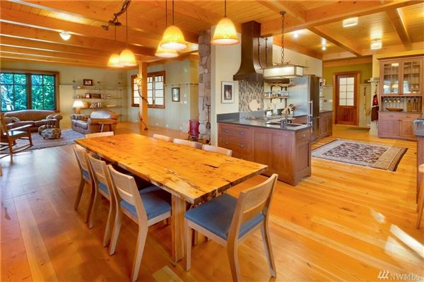 Luxury real estate impeccable waterfront home on Stuart Island