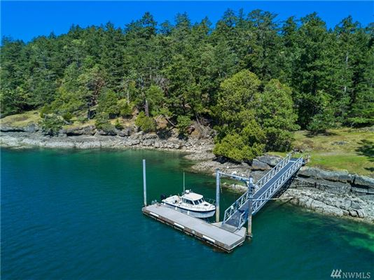 impeccable waterfront home on Stuart Island luxury real estate