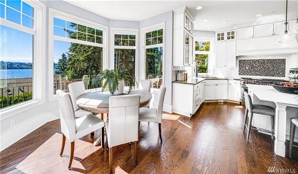 Luxury real estate West Bellevue six bedroom home with sweeping views