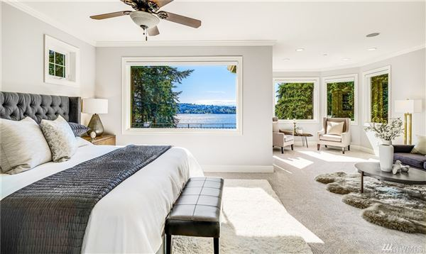Mansions West Bellevue six bedroom home with sweeping views