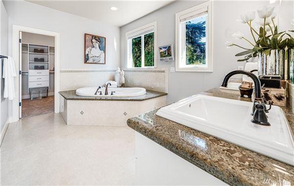 Luxury homes in West Bellevue six bedroom home with sweeping views