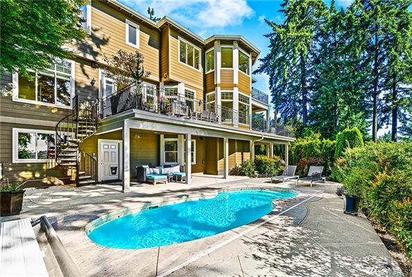 West Bellevue six bedroom home with sweeping views luxury properties