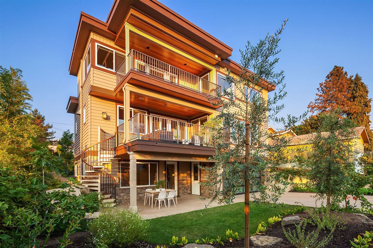 Northwest contemporary Set on a majestic landscape mansions
