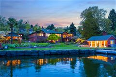 Private Lake Washington walled compound mansions