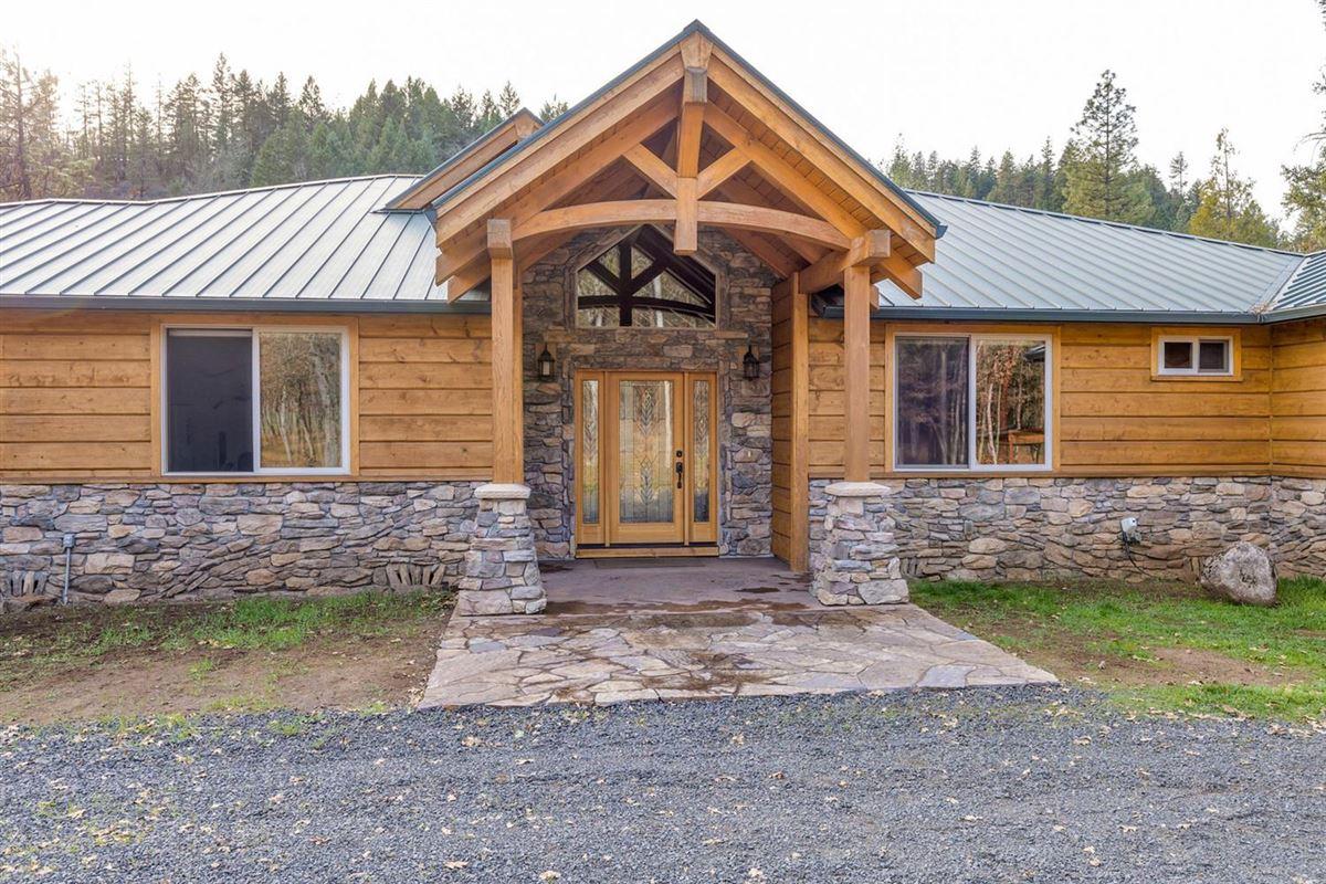 Luxury real estate Premier rural home on Big Butte Creek