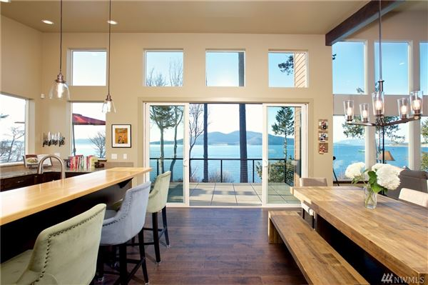 Luxury real estate  Pacific Northwest Contemporary waterfront estate