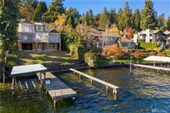 Mansions new construction Mercer Island waterfront