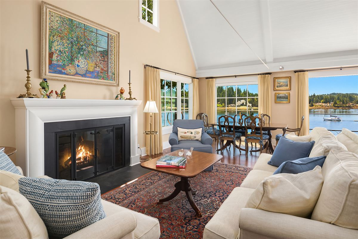Captivating Cape Cod on 130 feet of low-bank waterfront luxury real estate