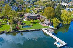 Private Lake Washington compound mansions