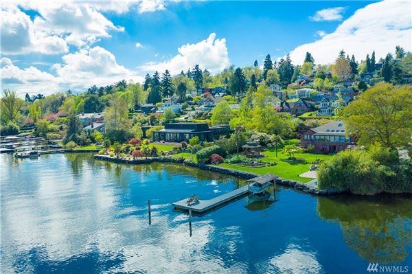 Luxury properties Private Lake Washington compound