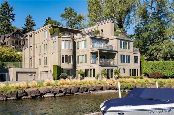 SOPHISTICATED SEATTLE WATERFRONT WITH DEEDED BOAT SLIP luxury properties