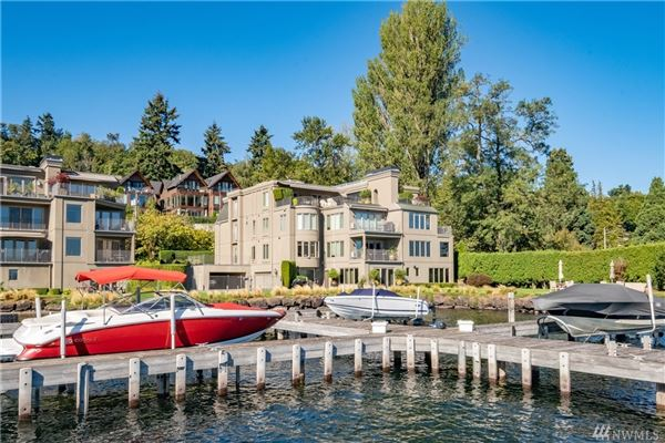 Mansions SOPHISTICATED SEATTLE WATERFRONT WITH DEEDED BOAT SLIP