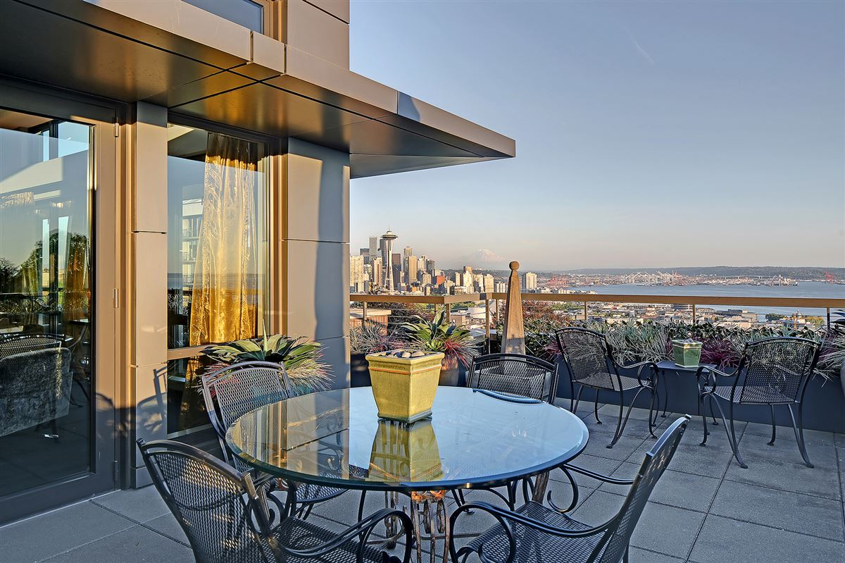 Sophisticated Queen Anne Penthouse luxury real estate