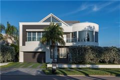modern work of art on the water mansions