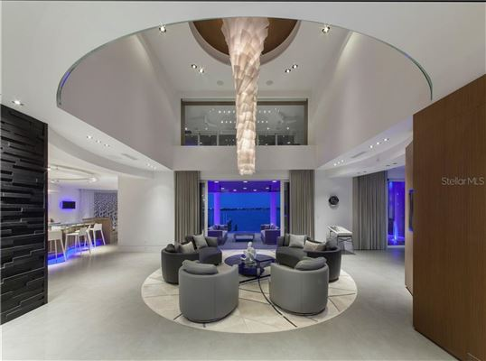 Luxury real estate modern work of art on the water