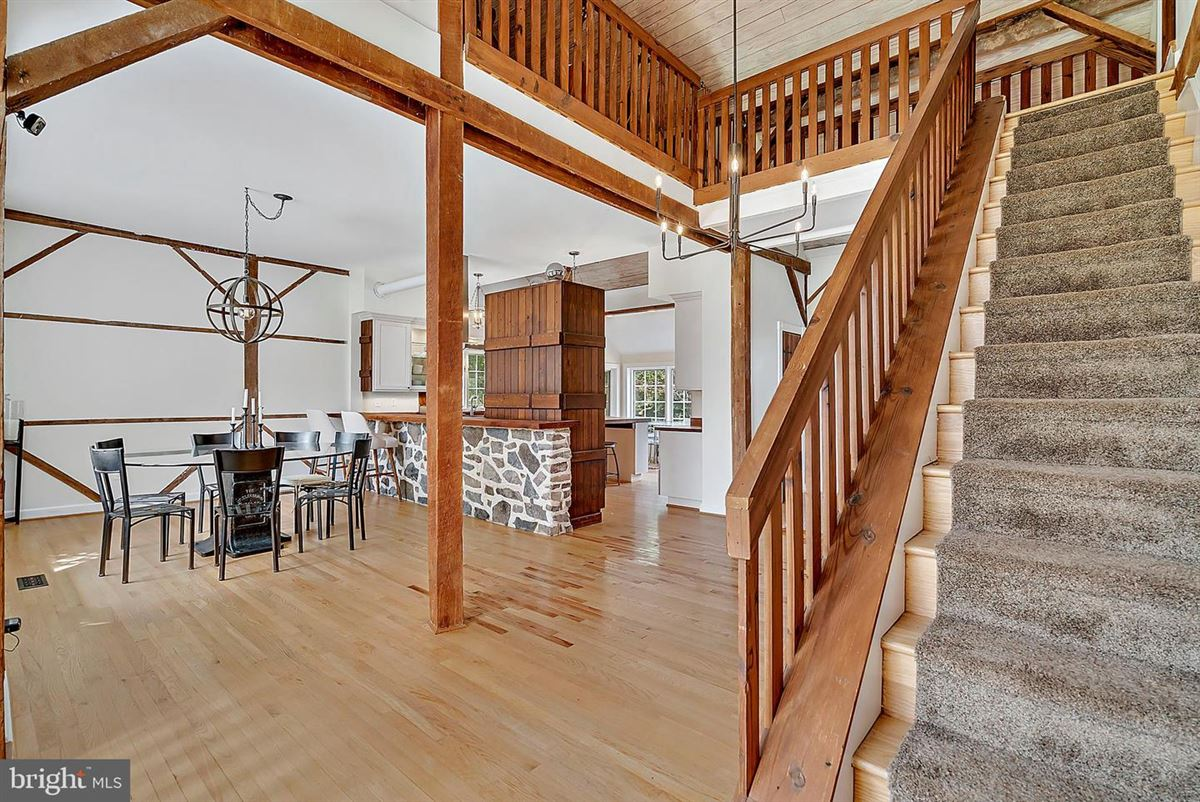 Luxury properties stunning post and beam home in private setting