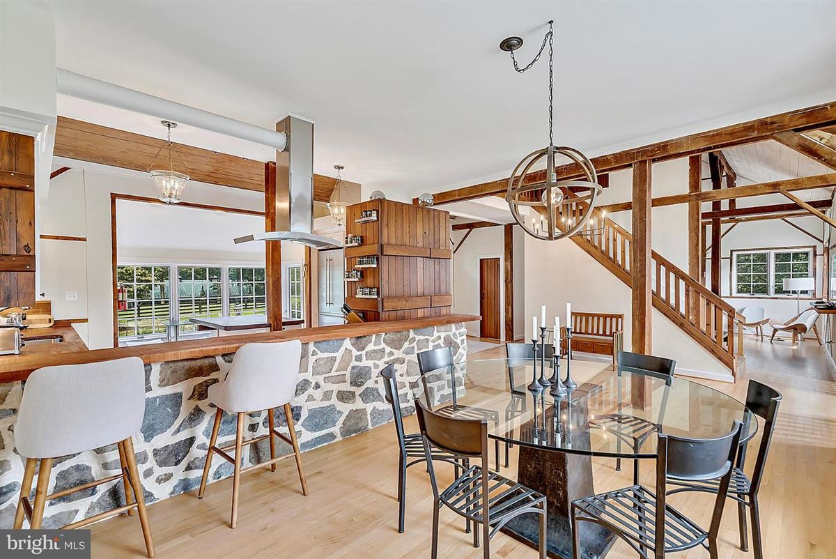 Luxury homes in stunning post and beam home in private setting