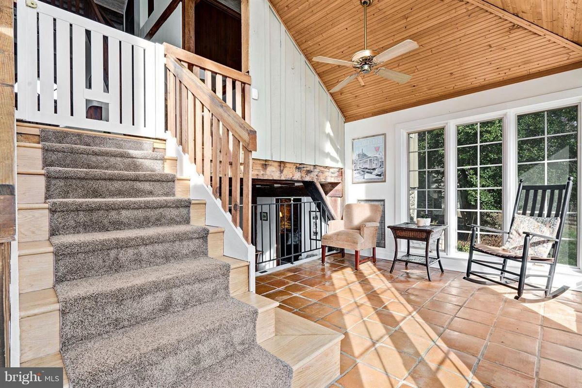 stunning post and beam home in private setting  mansions