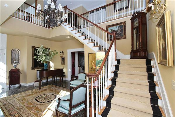 Luxury homes Exquisite brick estate with guest cottage
