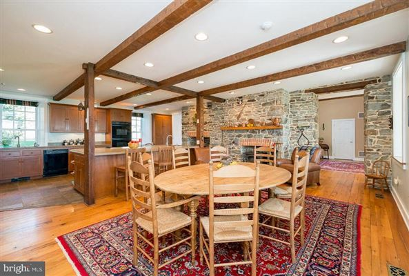 Luxury homes in restored and renovated historic stone home