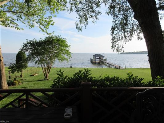 Luxury real estate Outstanding custom built James River waterfront home