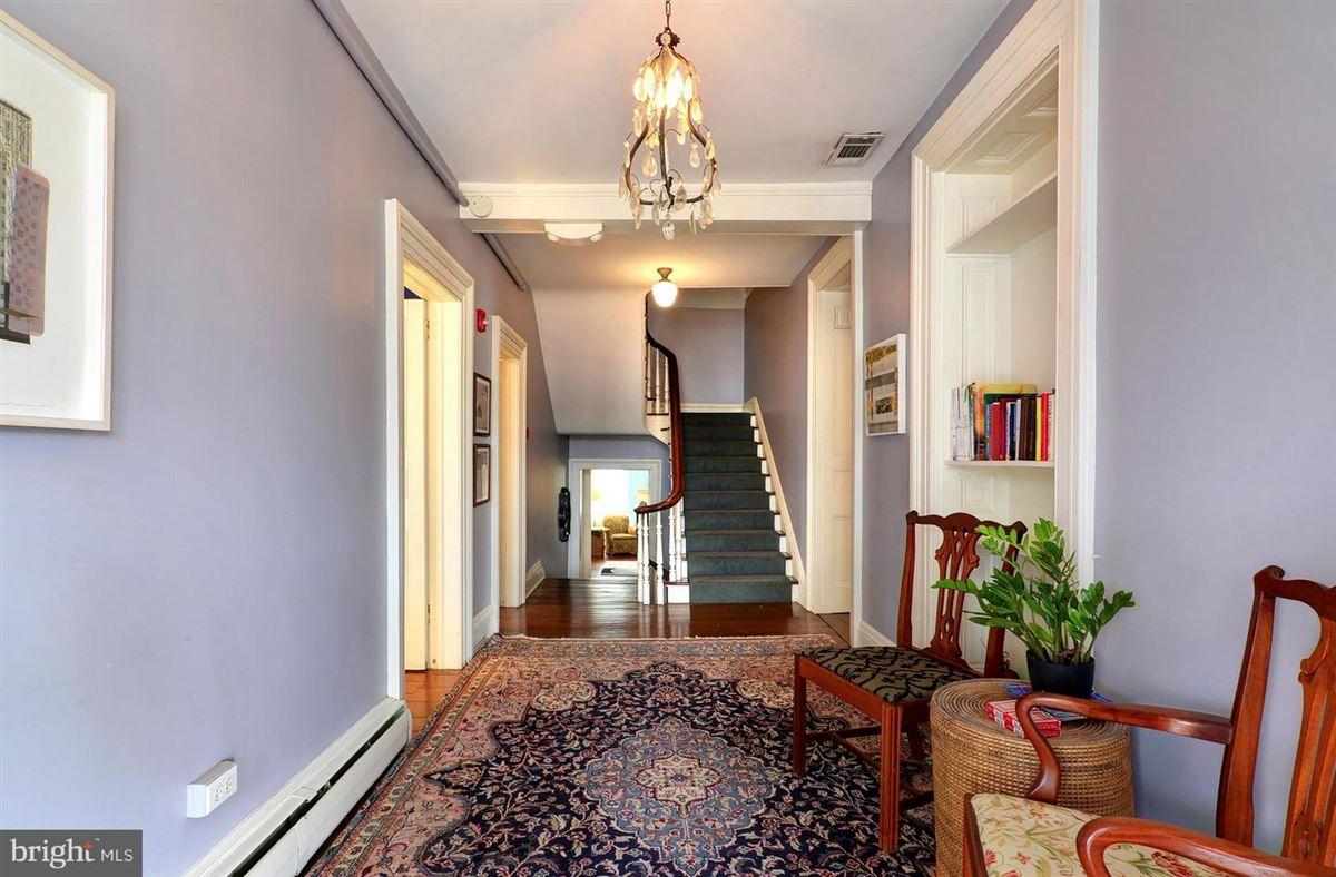 this stately manor stands tall in the heart of downtown Easton mansions