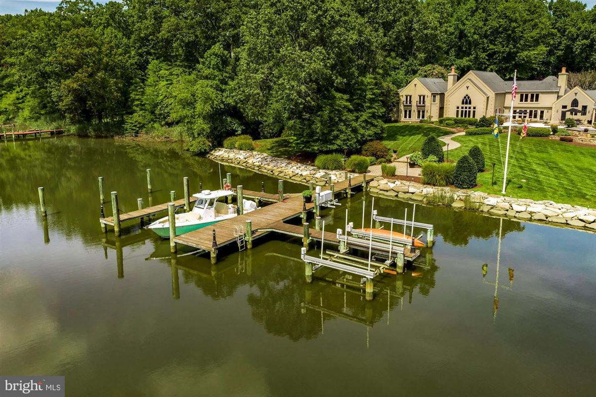 Luxury homes Private waterfront estate