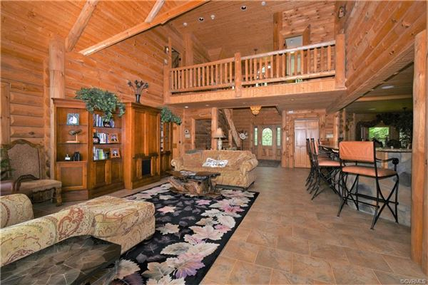 Luxury real estate amazing Wilderness Log home