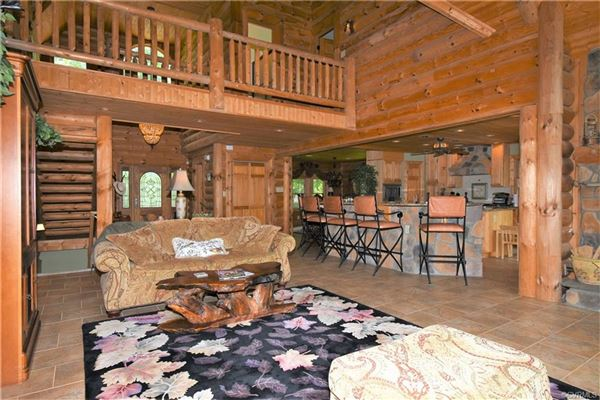 Mansions amazing Wilderness Log home