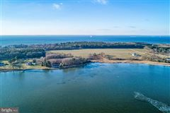 Waterfront lot on the Bay in stevensville luxury real estate