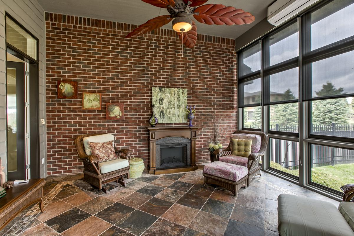 lovely home with outdoor fireplace and patio luxury real estate