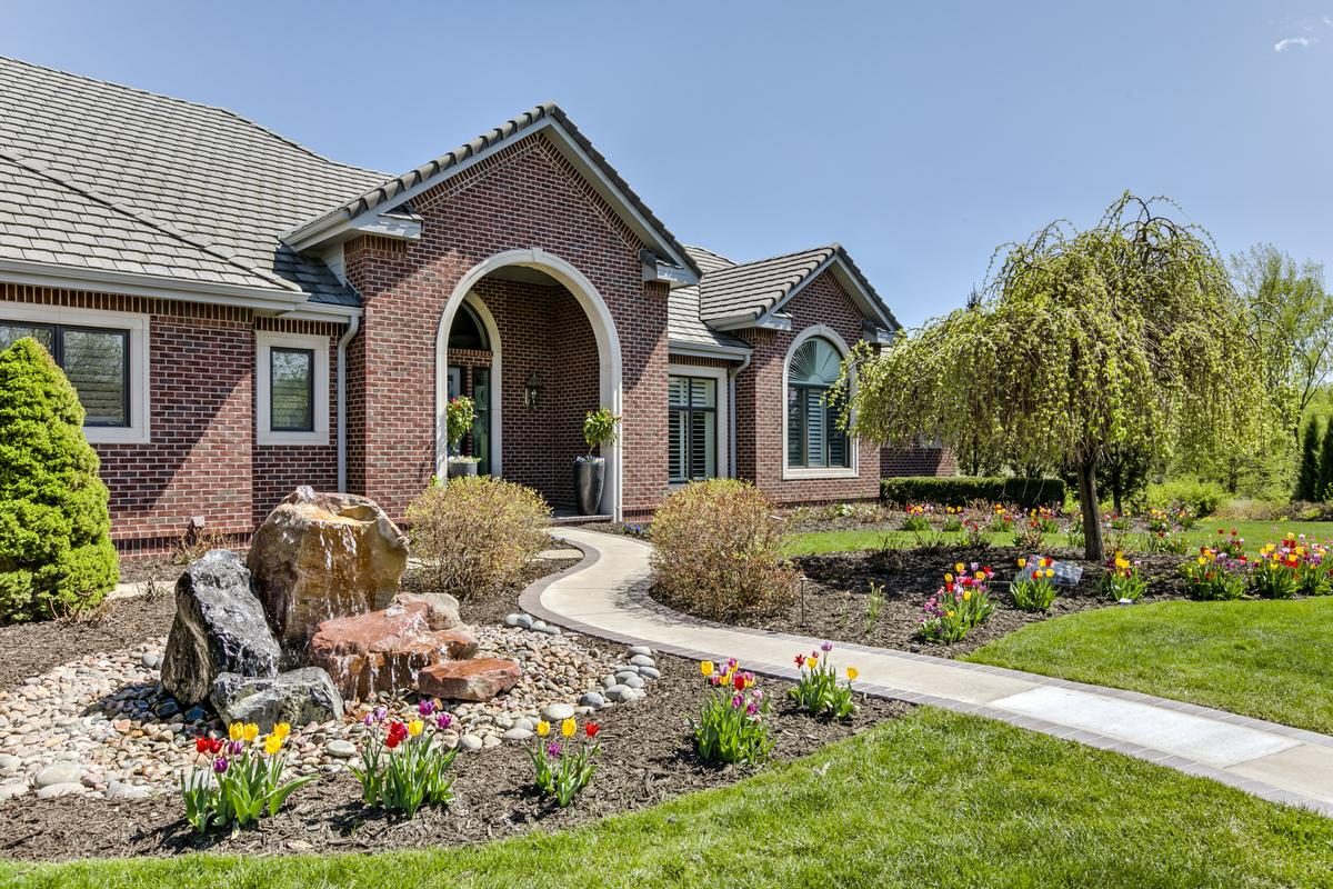 Luxury homes lovely home with outdoor fireplace and patio