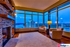 A dream to live in the entire top floor of this 555 Riverfront Building luxury real estate