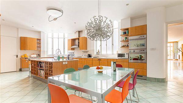 Luxury homes elegant apartment with multiple balconies