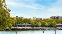Luxury real estate renovated apartment On the banks of the Seine