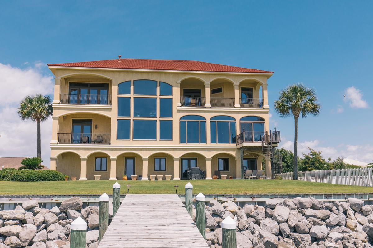 Luxury homes  elegant waterfront home in pensacola