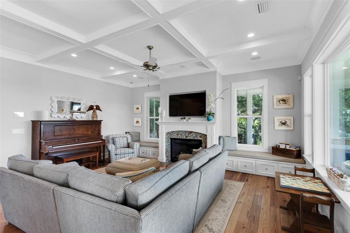 rare waterfront home on Bayou Texar luxury homes
