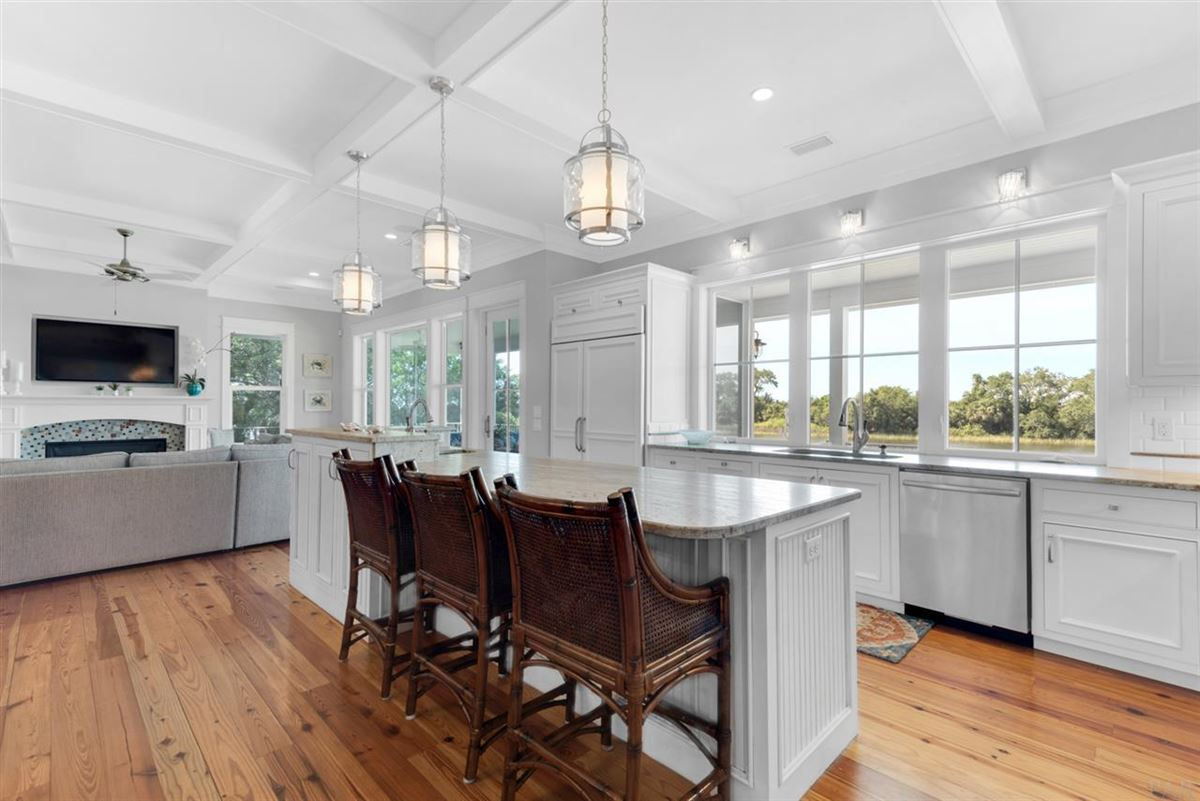 rare waterfront home on Bayou Texar mansions