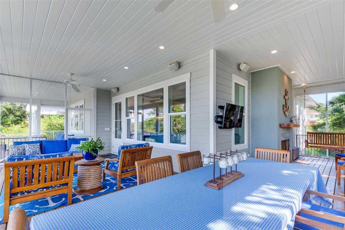 Luxury real estate rare waterfront home on Bayou Texar