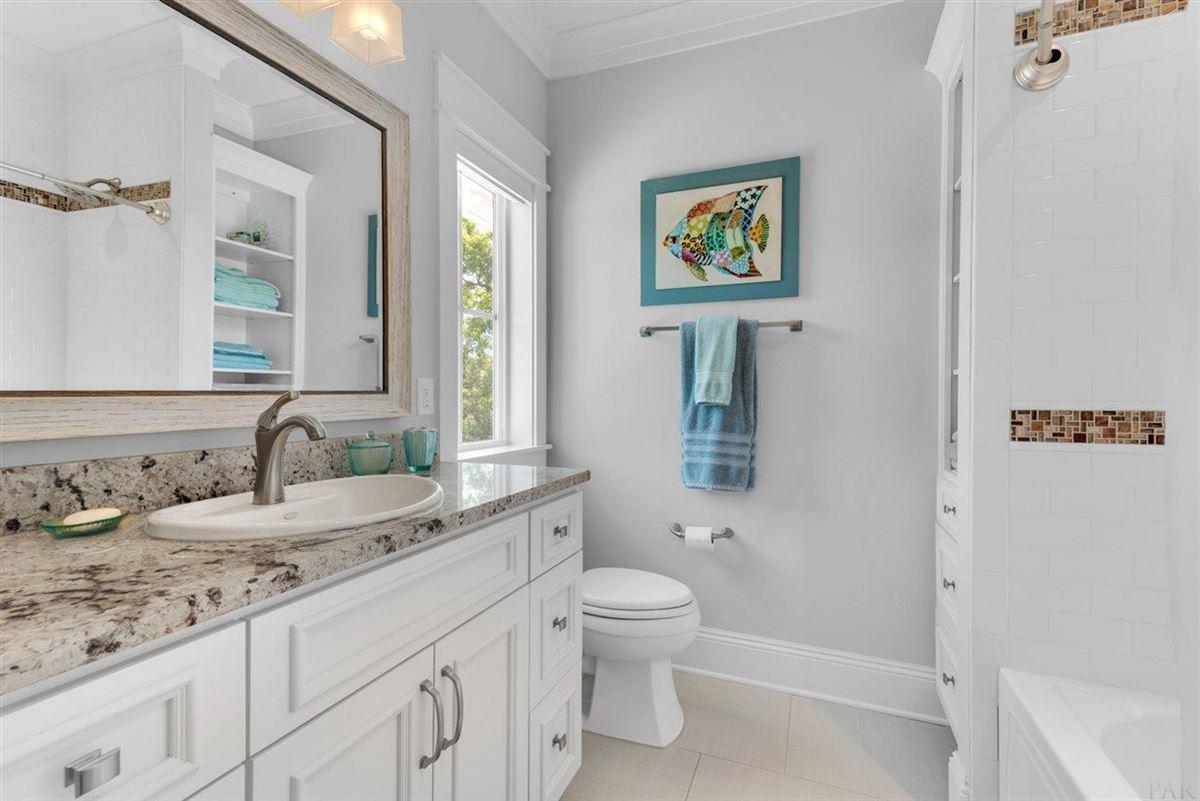 rare waterfront home on Bayou Texar luxury properties