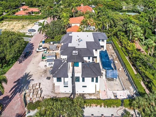 Luxury real estate new home in gated beachfront enclave