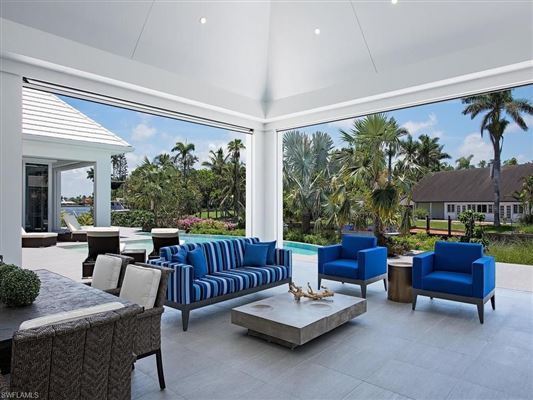 new contemporary home in Aqualane Shores luxury real estate