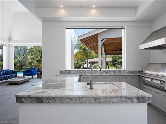 new contemporary home in Aqualane Shores luxury properties