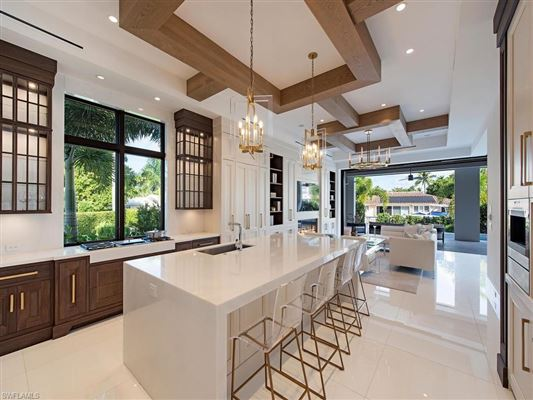 Luxury real estate waterfront new construction with wow factor