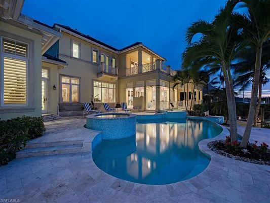 Bermuda style home situated on Jamaica Channel mansions