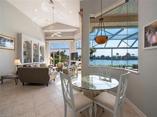 Luxury homes in designer decorated waterfront home