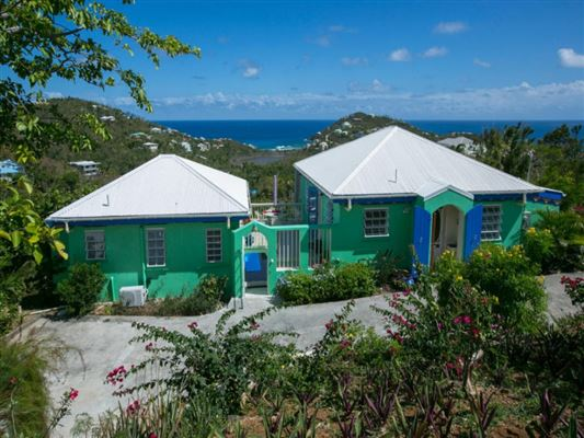 Luxury homes Caribbean Colors in st john
