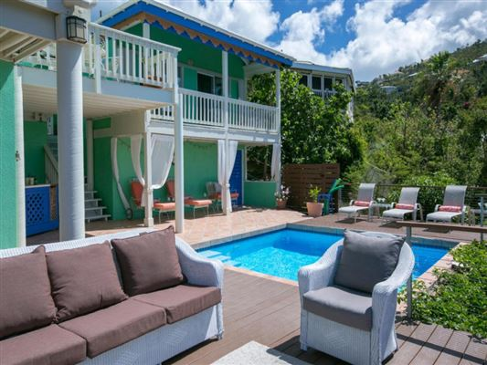 Caribbean Colors in st john luxury real estate